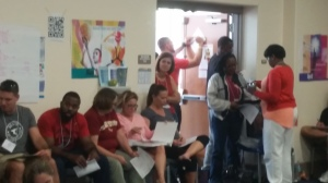 A quiet moment captured - I was taking in all of these awesome, caring educators, feeling extremely grateful in this moment. Blurry, but real~