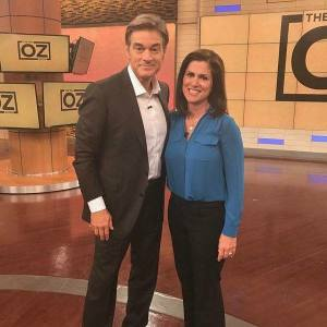 Relief showing in my face here! Dr. Oz - what a warm and compassionate man he truly is.